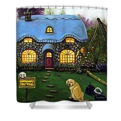 Kinkade's Worst Nightmare 2  Shower Curtain by Leah Saulnier The Painting Maniac