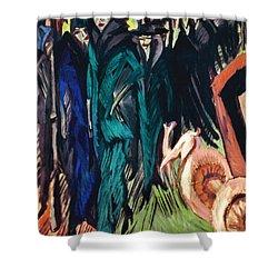 Kirchner: Street Scene Shower Curtain by Granger