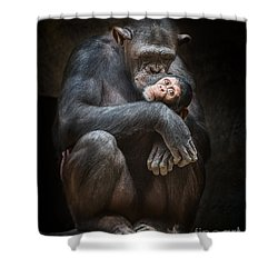 Kiss From Mom Shower Curtain by Jamie Pham