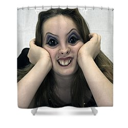 Kiss Me You Fool Shower Curtain by Clayton Bruster