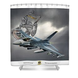 Knight Of The Sky Shower Curtain by Peter Chilelli