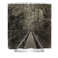 Koto-in Zen Temple Forest Path - Kyoto Japan Shower Curtain by Daniel Hagerman