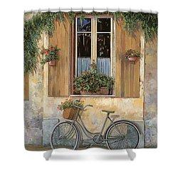 La Bici Shower Curtain by Guido Borelli