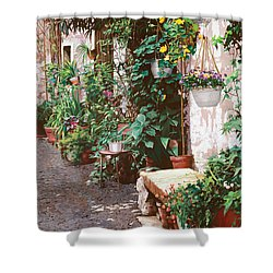 La Panca Di Pietra Shower Curtain by Guido Borelli