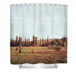 La Varenne De St. Hilaire Shower Curtain by Camille Pissarro