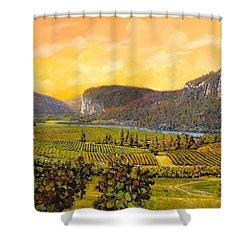 La Vigna Sul Fiume Shower Curtain by Guido Borelli