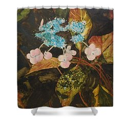 Lace Cap 2 Shower Curtain by Jean Blackmer