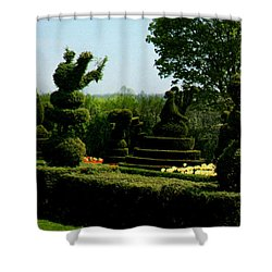 Ladew Topiary Gardens Shower Curtain by Ruth  Housley