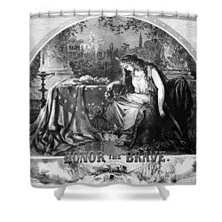 Lady Liberty Mourns During The Civil War Shower Curtain by War Is Hell Store