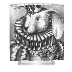 Lady Sadie Of Hoppington Shower Curtain by Adam Zebediah Joseph