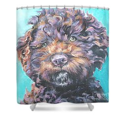 Lagotto Romagnolo Shower Curtain by Lee Ann Shepard