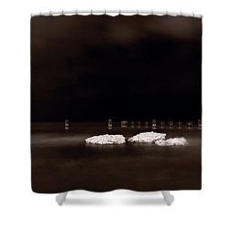 Lake Ice Shower Curtain by Steve Gadomski