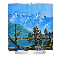 Lake Matheson Mushrooms Shower Curtain by Joshua Bales
