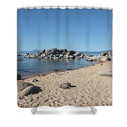 Lake Tahoe Morning Shower Curtain by Carol Groenen