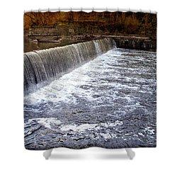Lake To Lake Waterfall Shower Curtain by Joan  Minchak