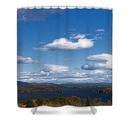 Lake Winnipesaukee New Hampshire In Autumn Shower Curtain by Stephanie McDowell