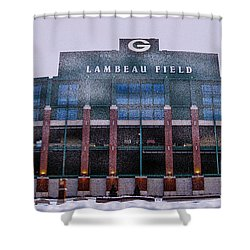 Lambeau  Shower Curtain by Tommy Anderson