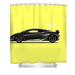 Lamborghini Sesto Elemento Shower Curtain by Mark Rogan