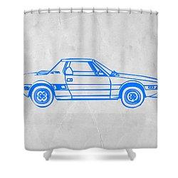 Lancia Stratos Shower Curtain by Naxart Studio