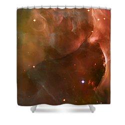 Landscape Orion Nebula Shower Curtain by The  Vault - Jennifer Rondinelli Reilly
