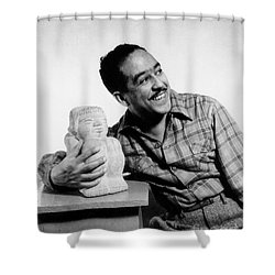 Langston Hughes (1902-1967) Shower Curtain by Granger