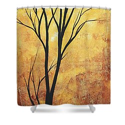 Last Tree Standing By Madart Shower Curtain by Megan Duncanson