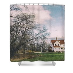 Late Afternoon At The Lighthouse Shower Curtain by Scott Norris