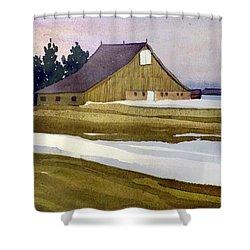Late Winter Melt Shower Curtain by Donald Maier