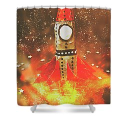 Launch Of Early Learning Shower Curtain by Jorgo Photography - Wall Art Gallery