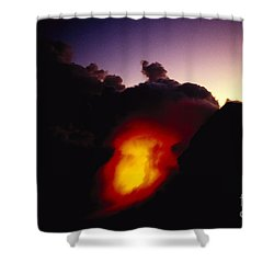 Lava At Dawn Shower Curtain by Ron Dahlquist - Printscapes