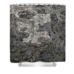 Shower Curtain featuring the photograph Lava Flow by M G Whittingham