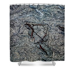 Shower Curtain featuring the photograph Lava by M G Whittingham