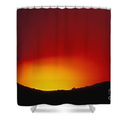 Lava Flows At Night Shower Curtain by William Waterfall - Printscapes