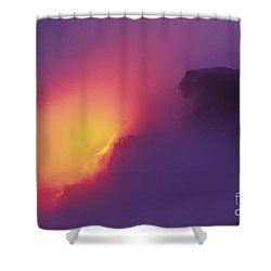 Lava Meets The Sea Shower Curtain by William Waterfall - Printscapes