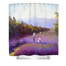 Lavender Fields Shower Curtain by Terry  Chacon
