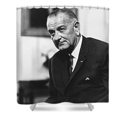 Lbj  Shower Curtain by War Is Hell Store