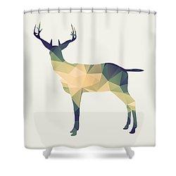 Le Cerf Shower Curtain by Taylan Soyturk