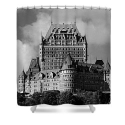 Le Chateau Frontenac - Quebec City Shower Curtain by Juergen Weiss