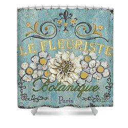 Le Fleuriste De Botanique Shower Curtain by Debbie DeWitt