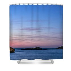 Shower Curtain featuring the photograph Le Phare De Biarritz by Thierry Bouriat
