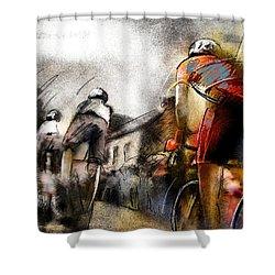 Le Tour De France 06 Shower Curtain by Miki De Goodaboom