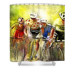 Le Tour De France 07 Shower Curtain by Miki De Goodaboom