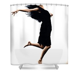 Leap Into The Unknown Shower Curtain by Richard Young
