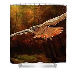 Leaving The Enchanting Forest Shower Curtain by Donna Kennedy