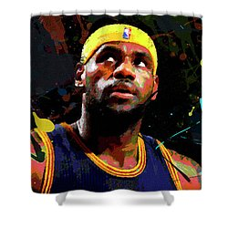 Lebron Shower Curtain by Richard Day