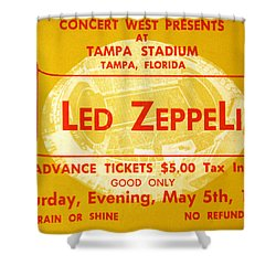 Led Zeppelin Ticket Shower Curtain by David Lee Thompson