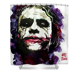 Ledgerjoker Shower Curtain by Ken Meyer jr
