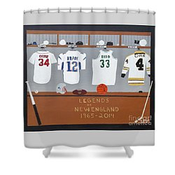 Legends Of New England Shower Curtain by Dennis ONeil