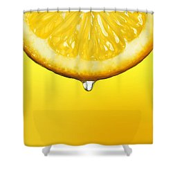 Lemon Drop Shower Curtain by Mark Rogan