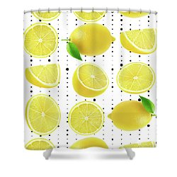 Lemon  Shower Curtain by Mark Ashkenazi
